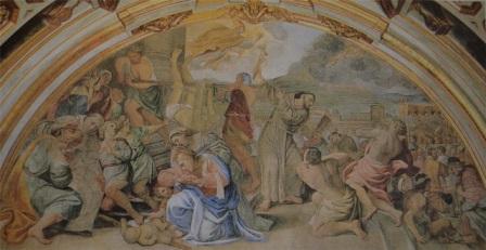 Affresco Domenichino, Cappella di San Gennaro