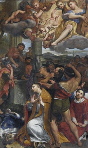 Decollazione di San Gennaro, Domenichino (1634-1641) olio su rame
