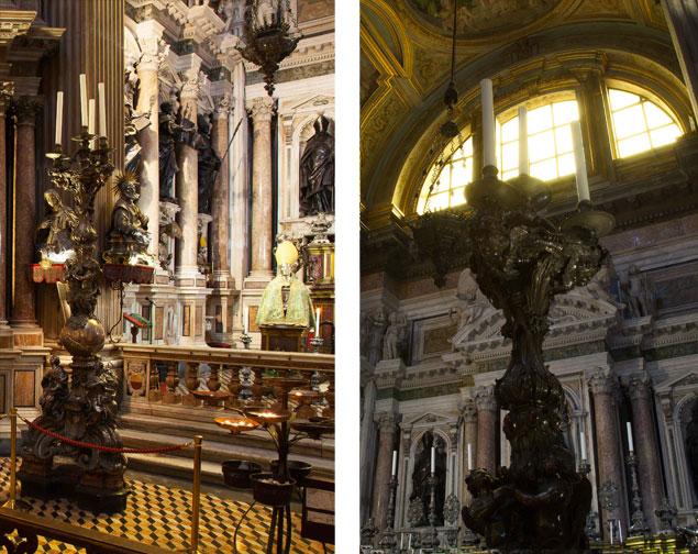 'Splendori' , i candelabri della Cappella di San Gennaro